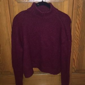 American Eagle Burgundy Turtle Neck Sweater